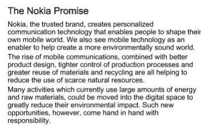 Promesa de marca Nokia