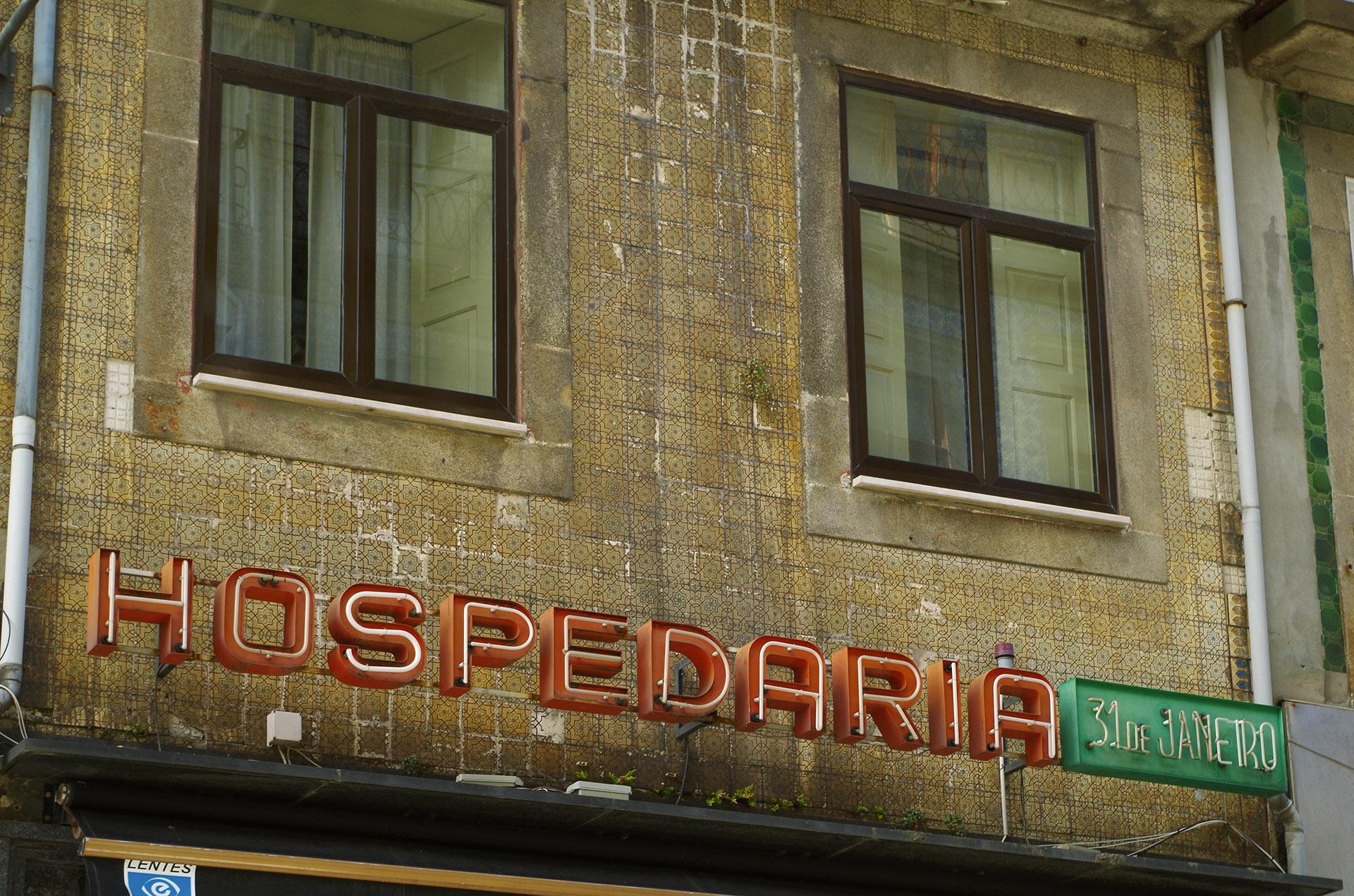 Rótulo de Hospederia (Oporto)